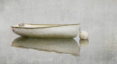 Photograph - White Boat by Karen Lynch