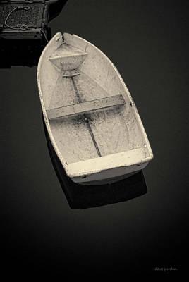 Photograph - White Boat No. 2 Toned by David Gordon