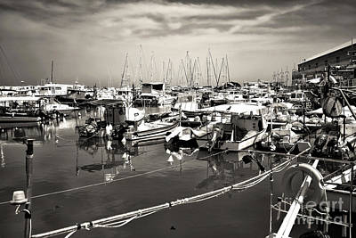 Photograph - White Boats In The Port by John Rizzuto