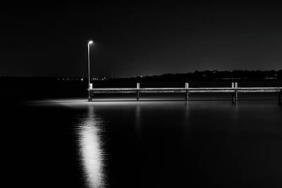 Photograph - White Rock Lake 092116 Bw by Rospotte Photography