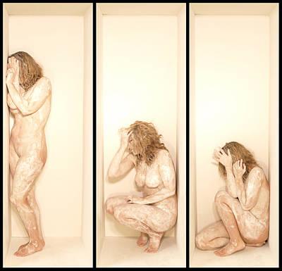 White Box Triptych Art Print