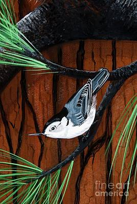 Painting - White Breasted Nuthatch by Jennifer Lake