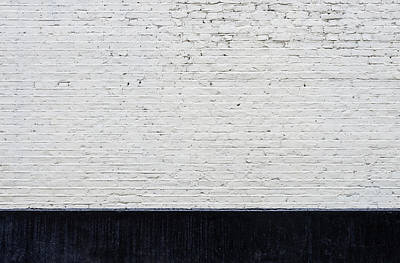 Photograph - White Brick Wall And Black Skirting by Dutourdumonde Photography
