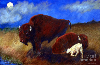 White Buffalo Calf Art Print by Doris Blessington