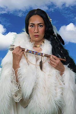 Photograph - White Buffalo Calf Woman by David Clanton