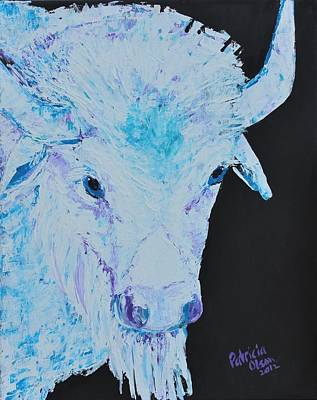 White Buffalo Art Print by Patricia Olson