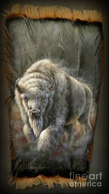 White Buffalo Art Print by Sherry Orchard