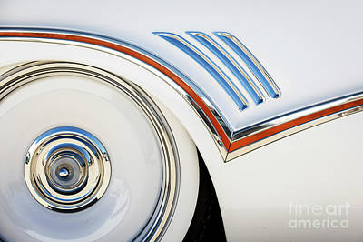 Photograph - White Buick by Dennis Hedberg
