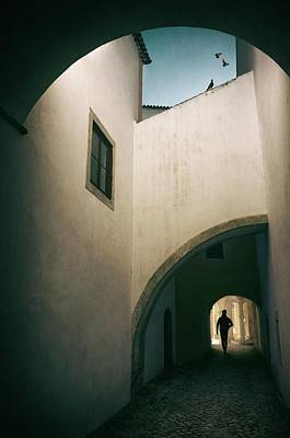 Photograph - White Building With Arches by Carlos Caetano