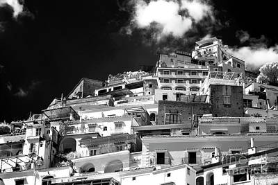 Photograph - White Buildings In Positano by John Rizzuto