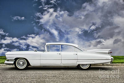 Photograph - White Caddy by Steven Parker