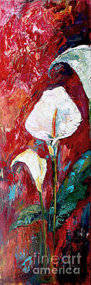 Painting - White Calla Lilies Oil Painting by Ginette Callaway