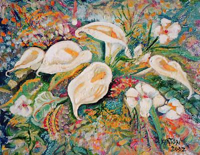 White Callas Print by John Keaton