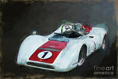 Photograph - White Can-am Lola T160 by Stuart Row