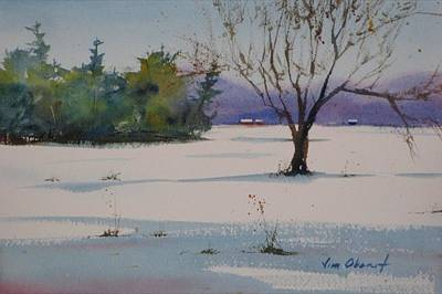 Oberst Painting - White Carpet by Jim Oberst