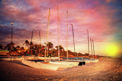 Photograph - White Catamarans by Debra and Dave Vanderlaan