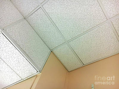 Acoustical Photograph - White Ceiling Tiles by Tom Gowanlock