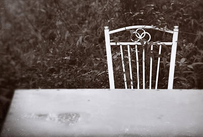 Photograph - White Chair #0626 by Andrey Godyaykin