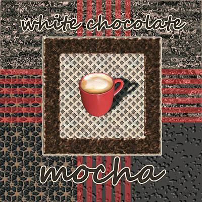 White Chocolate Mocha - Coffee Art Print by Anastasiya Malakhova