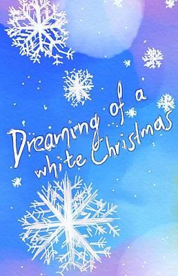 Digital Art - White Christmas  by Persephone Artworks