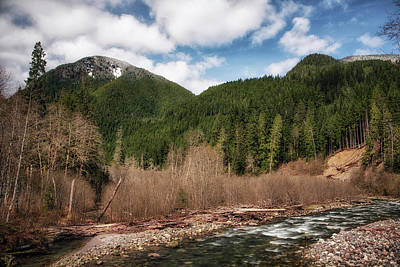 Photograph - White Chuck River, White Chuck Mountain by Charlie Duncan