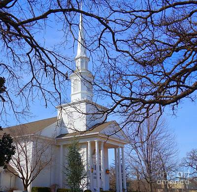 Photograph - White Church On The Hill by Janette Boyd