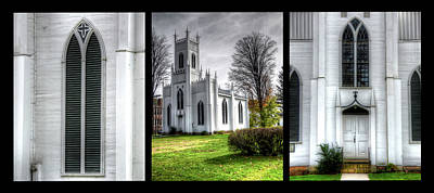 Photograph - White Church Trio by Leslie Montgomery