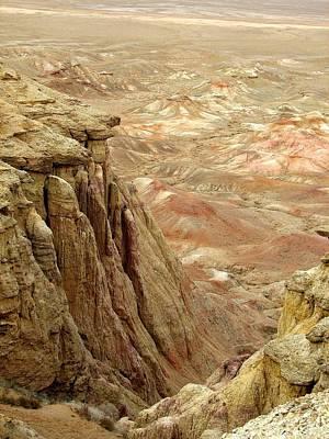 White Cliffs Of Gobi Desert Art Print by Diane Height