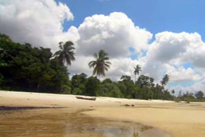 Mixed Media - White Clouds Loaded Zanzibar Island Skyview Long Shot by Navin Joshi