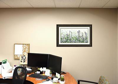 Photograph - Lindsay White Clover Framed by Jerry Sodorff