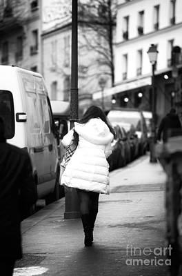 Photograph - White Coat In Paris by John Rizzuto