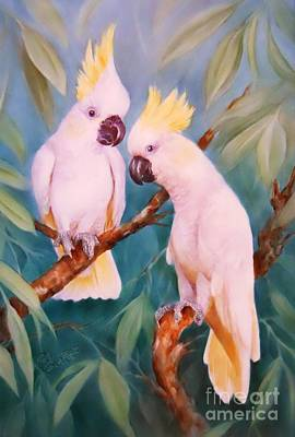 Painting - White Cockatoos by Summer Celeste