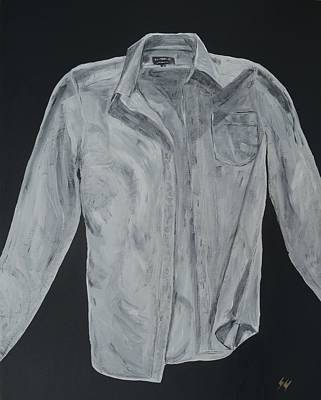 White Collared Dress Shirt Original by Sara Gardner