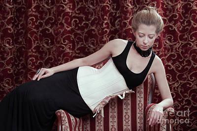 Photograph - White Corset #2193 by Andrey Godyaykin