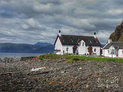 Photograph - White Cottage On Seil Island by Joan-Violet Stretch