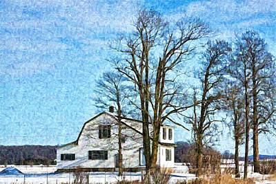 Photograph - Winter In Ontario Digital Painting by Tatiana Travelways