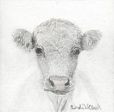 Painting - White Cow by Linda Clark