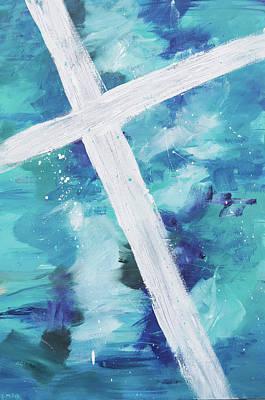 White Cross Original by Linda Miller