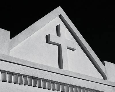 Photograph - White Cross On Vault by Tony Grider