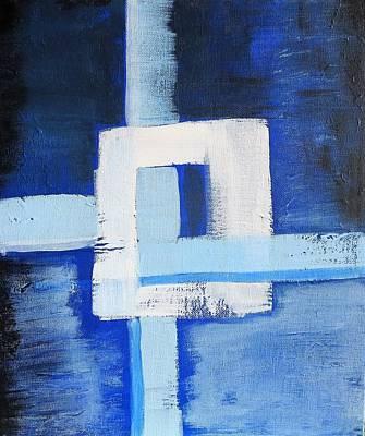 Painting - White Cross by Tamara Savchenko
