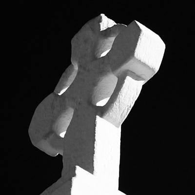 Photograph - White Cross by Tony Grider