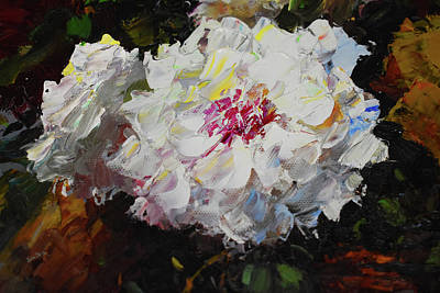 Painting - White Dahlias Painted by Sandi OReilly