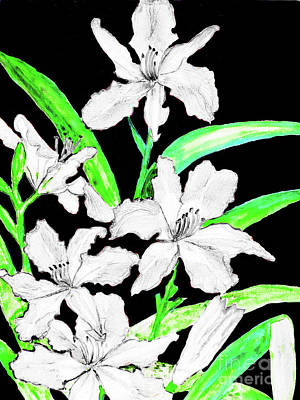 Painting - White Daily Lilies by Irina Afonskaya