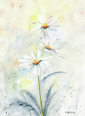 Painting - White Daisies by Melly Terpening