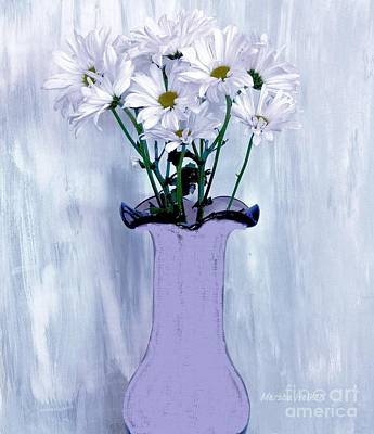 Daisy Mixed Media - White Daisies Still Life by Marsha Heiken