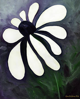 Painting - White Daisy by Gina De Gorna