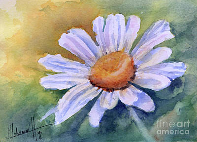 Mohamed Painting - White Daisy by Mohamed Hirji