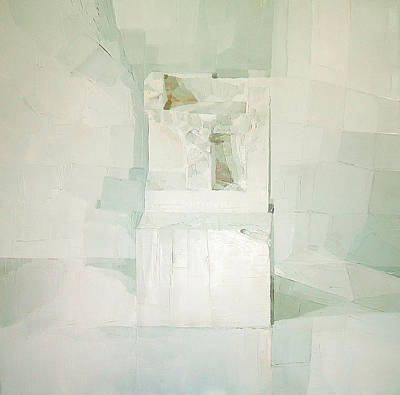 Stone Painting - White by Daniel Cacouault