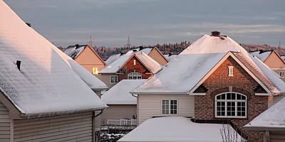 Photograph - White December Rooftops by Tatiana Travelways