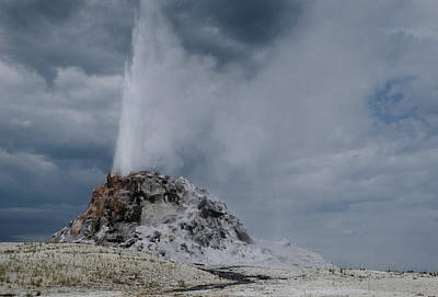 Photograph -  White Dome Geyser by Rae Ann  M Garrett